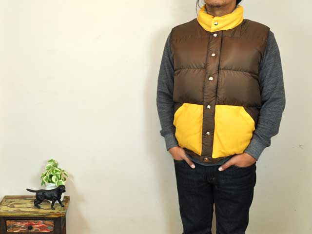 【40%OFF】【OUTLET】【期間限定特別価格】WATER × CRESCENT DOWN WORKS クレセント ダウン ワークス ディアスキン イタリアンベスト ITALIAN VEST