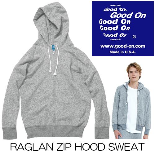 GoodOn(グッドオン)RAGLAN ZIP HOOD SWEAT / ラグランジップフードスウェット