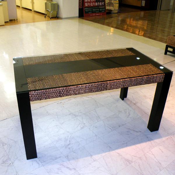 ウォーターヒヤシンス家具 ダイニングテーブル HDT-13 メンテナンス用キット付きで安心のアジアンテーブル アジアン家具世界最高クラスの品質!【パフォーマックス】