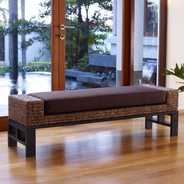 ウォーターヒヤシンス家具 小さめベンチ メンテナンス用キット付きで安心のアジアン家具 パフォーマックス アジアンベンチ アジアン家具最高クラスの品質