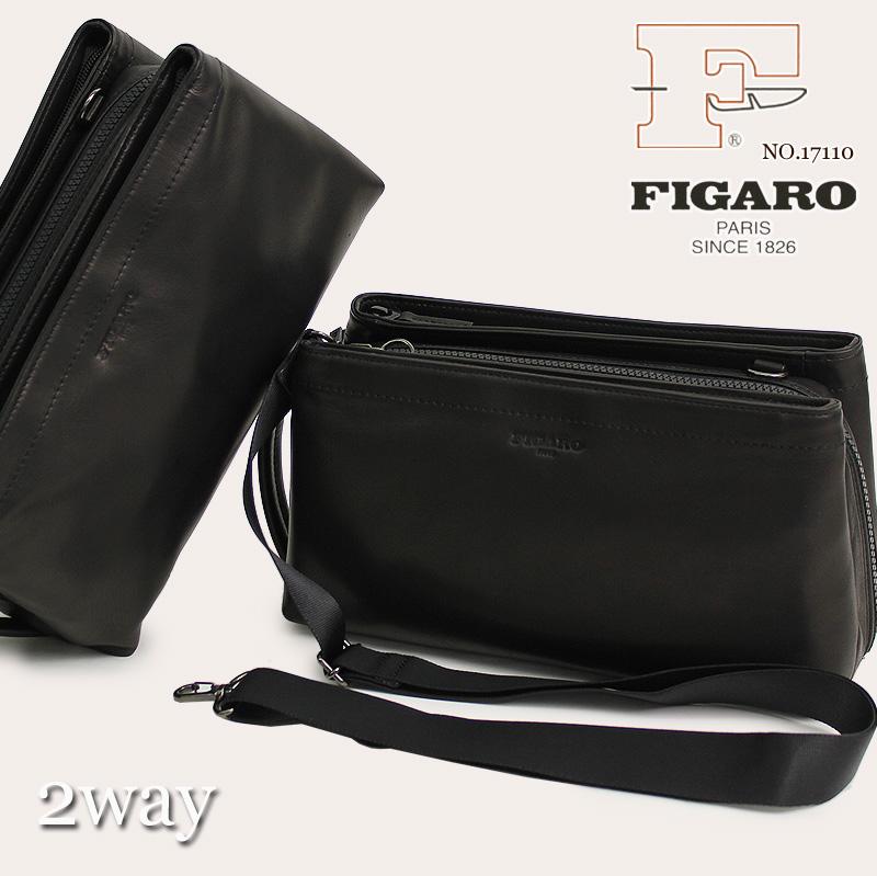 【セカンドバッグ】[送料無料] FIGARO bisシリーズ 17110 驚く程軽く、柔らかい手触りと感触を実感してほしい鞄 2way セカンドバック 牛革 メンズ ショルダーバッグ L字ファスナー 軽量 メンズ ポーチ プレゼント フィガロ ビジネス 日本製