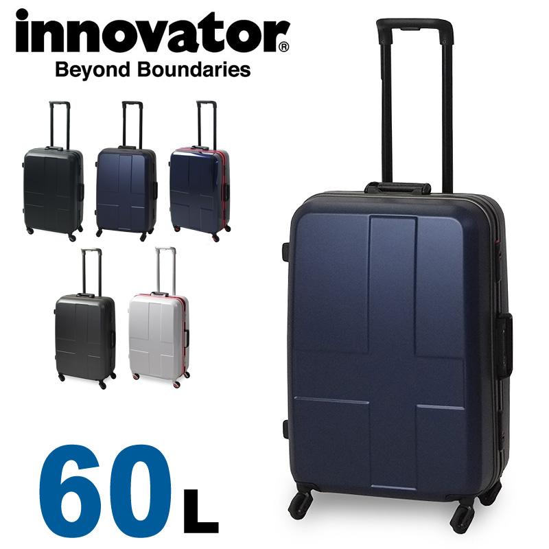 【正規品 2年保証】 スーツケース イノベーター INV58 innovator TSAロック 3泊~5泊 60L ハード フレームタイプ Mサイズ メンズ レディース 静音キャスター カードキー 国内旅行 修学旅行 海外旅行 トラベル