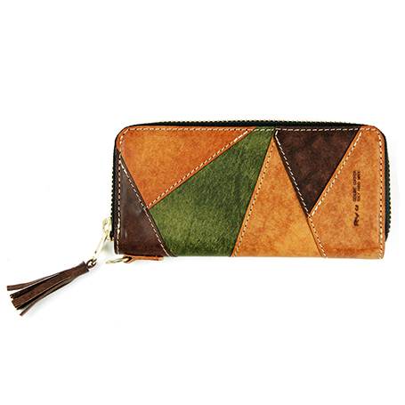 [Ryu] CRAZT PATCHWORK GRAND ZIP(L)WALLET