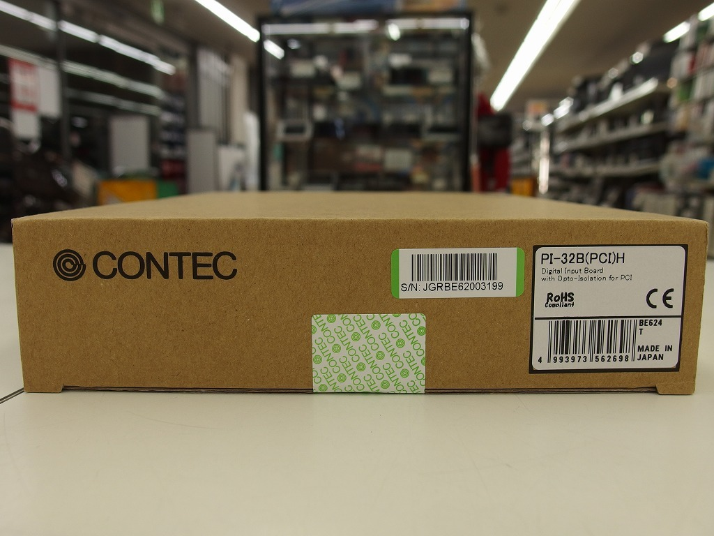【未使用】  CONTEC デジタル入力 PCI ボード 32ch (12VDC電源内蔵 絶縁 12~24VDC) PI-32B(PCI)H