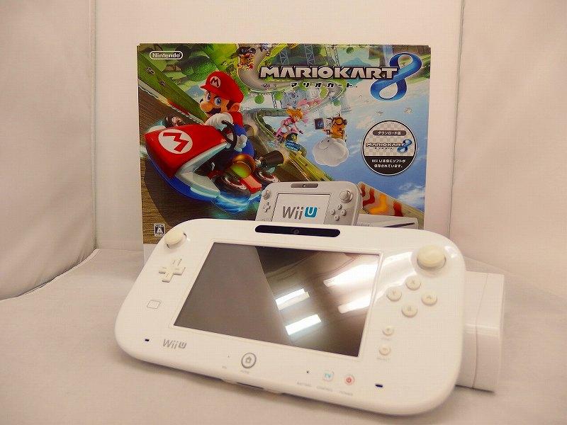 【欠品有り】 ニンテンドー Nintendo Wii U マリオカート8 セット シロ WUP-S-WAGH 【中古】