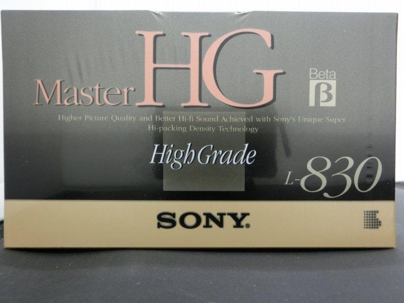 【未使用】 ソニー SONY 【未使用】 ベータ ビデオテープ Master HG ハイグレード L-830MHGB【SS2003T】