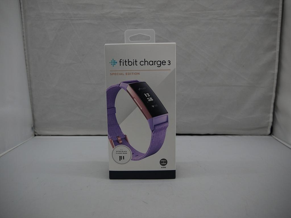 フィットビット Fitbit スマートウォッチ Charge3 FB410RGLV 【中古】