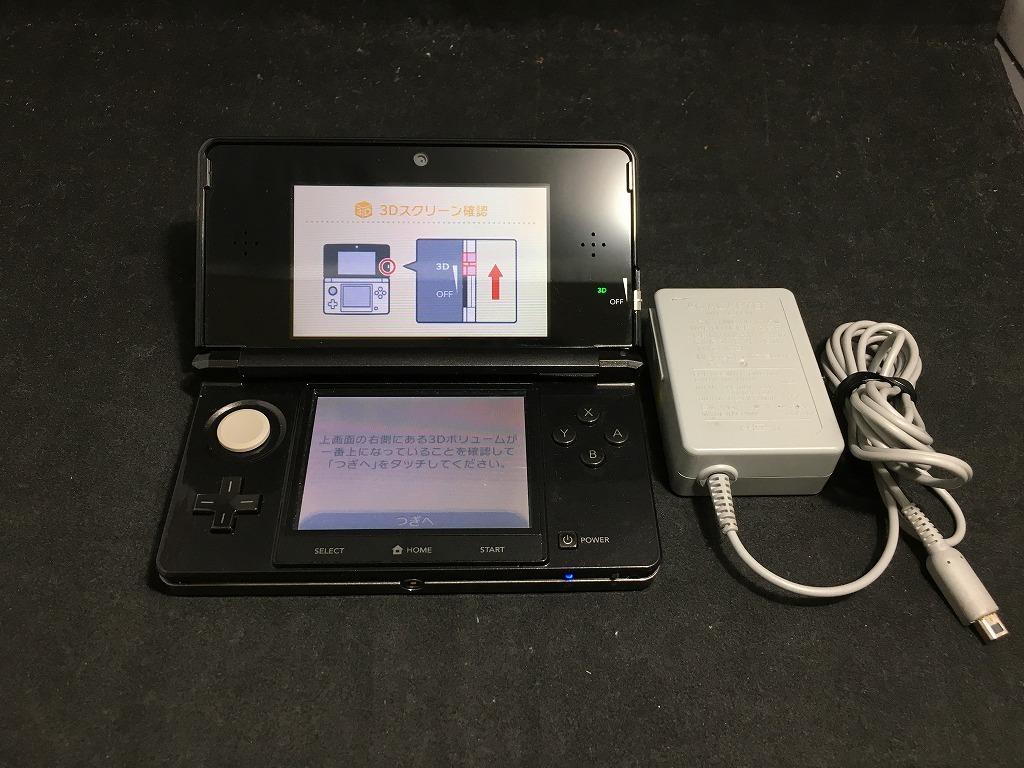 ニンテンドー Nintendo 3DS 大好評です CTR-001 コスモブラック お洒落 中古