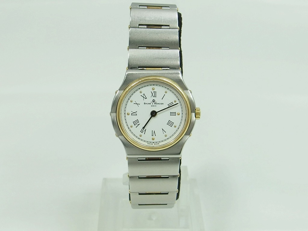 BAUMEandMERCIER 腕時計 アナログ シルバー ゴールド 1830 5228 【中古】