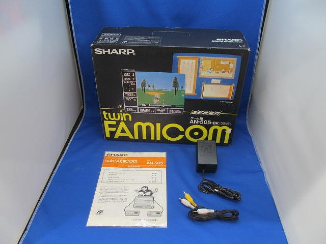 シャープ SHARP ツインファミコン 後期型 AN-505-BK 【中古】