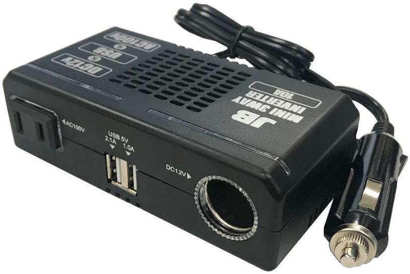 未使用品 格安激安 未使用 日本ボデーパーツ工業 未開封 安心と信頼 JB-014 DC12V車専用 ミニ3WAY電源インバーター
