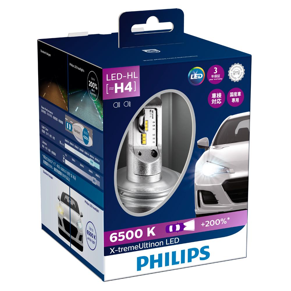H4 LED ヘッドランプ PHILIPS(フィリップス)エクストリームアルティノン 6500K