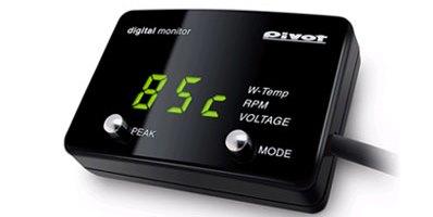 DMC-G(緑表示) CAN通信車用 簡易取り付けデジタルメーター 「水温」「回転」「電圧」【DMC】PIVOT(ピボット)
