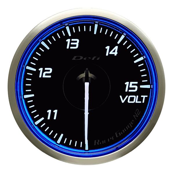レーサーゲージ N2 Φ60 電圧計 Defi(デフィー)