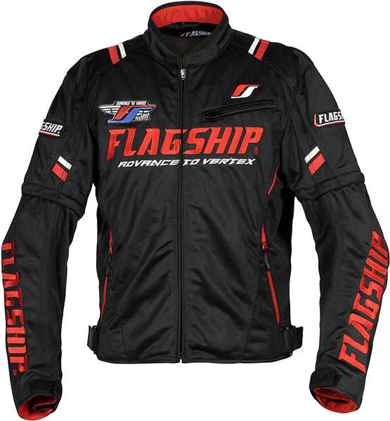 アーバンライド メッシュジャケット ブラック&レッド FJ-S194-BKRD FLAGSHIP(フラッグシップ)