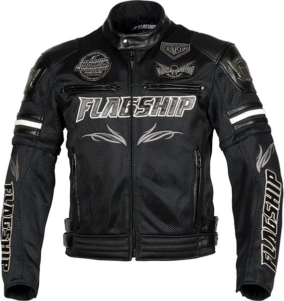 ヴァーテックス メッシュジャケット ブラック&ホワイト FJ-S196G-BKWH FLAGSHIP(フラッグシップ)