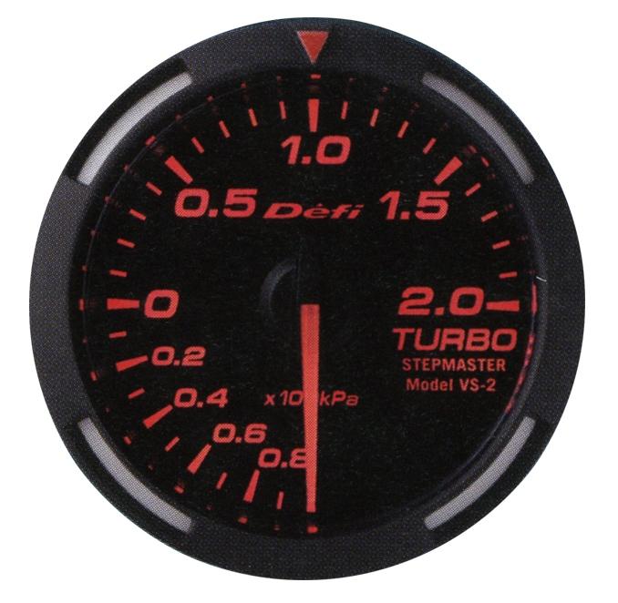 【プレゼント付き】Defi(デフィ)レーサーゲージ 52φ レッドモデルTURBO ターボ計