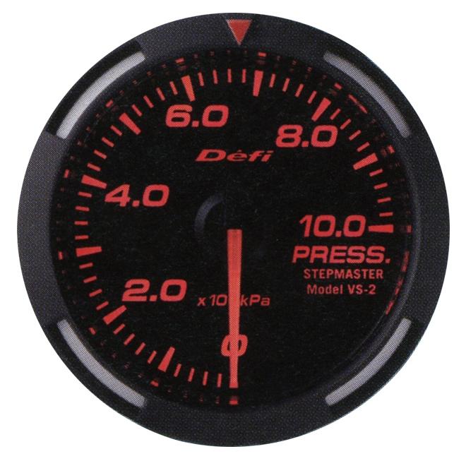 【プレゼント付き】Defi(デフィ)レーサーゲージ 52φ レッドモデルPRESS 圧力計