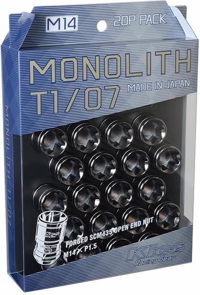 キックス モノリス T1/07 (M14×P1.5) グロリアスブラック 20個 KYO-EI