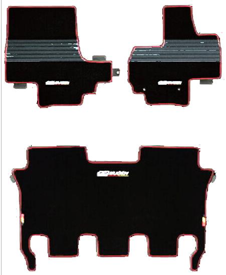 【送料無料】【無限】ホンダ NBOX スポーツマット ブラック&レッド【MUGEN】【ムゲン】【フロアマット】
