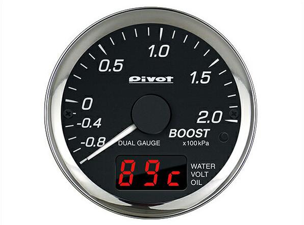 メーター DPB 幅広い車種に対応するブースト計 ターボ計 デュアルゲージプロ(PRO) PIVOT(ピボット)