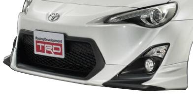 86(ZN6) フロントスポイラーブラック TRD/toyota/トヨタ/エアロ 【TRD】 (代引不可)
