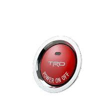 TRD プッシュスタータースイッチ ハイブリッド車(インジケーター有)専用 スイッチユニット交換タイプ 赤艶消し塗装 【toyota】 【トヨタ】
