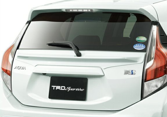 TRD テールゲートスポイラー アクア 純正色塗装済 【TRD】