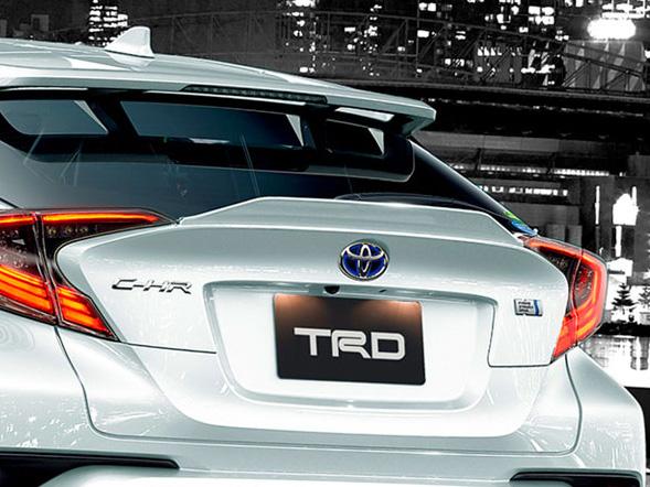 リヤトランクスポイラー トヨタ C-HR 塗装済 TRD 【TRD】