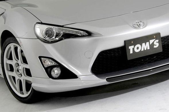 フロントスポイラー ブラックガーニッシュ 塗装済 トヨタ 86(ZN6) 【TOMS トムス】 (代引不可) (送料別)