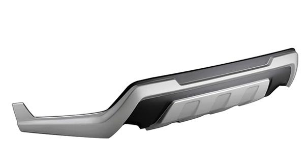 RAV4 Gグレード用 リヤバンパーガーニッシュ標準マフラー+「トムス・テールカッター」装着車用 未塗装(ABS素地) TOMS(トムス)(代引不可)