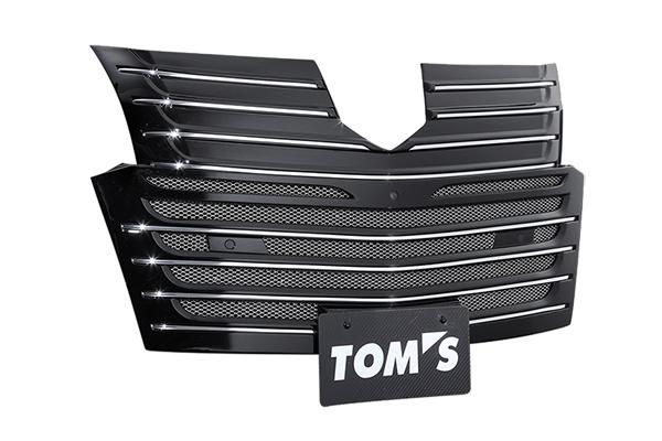 トヨタ アルファード(AYH30/GGH3#/AGH3#)エアロタイプグレード用 フロントグリル 塗装済 ブラック TOMS(トムス)
