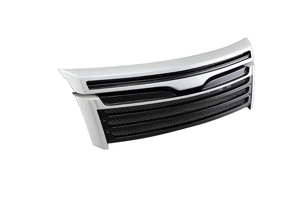 ヴォクシー(ZWR80W/ZRR80W ZSグレード)用 フロントグリル ホワイトパールクリスタルシャイン(070) TOMS(トムス)