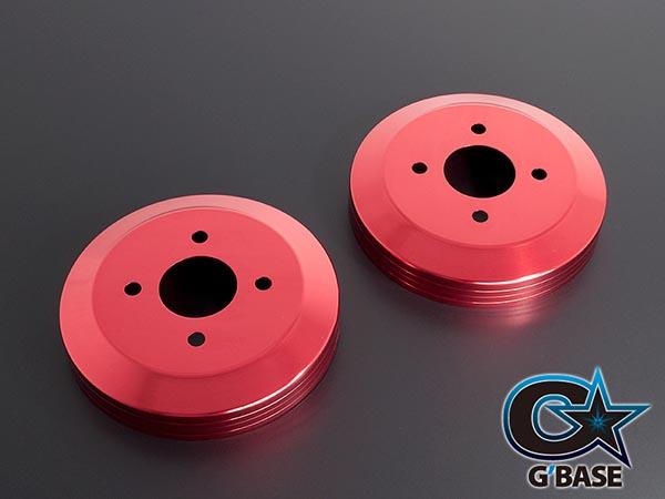 【G'BASE】 アルトRS/アルトワークス(HA36S)用 2/4WD共通 スリットライン ドラムカバー リヤ 2枚セット レッド