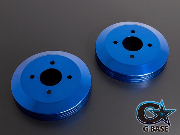 【G'BASE】 アルトRS/アルトワークス(HA36S)用 2/4WD共通 スリットライン ドラムカバー リヤ 2枚セット ブルー