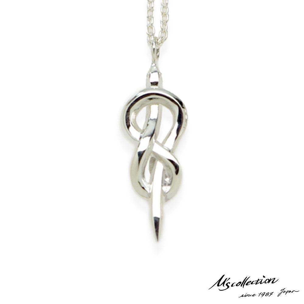 ブランド ペンダント メンズ M 蛇 エムズコレクション スネーク アズキチェーン ネックレス シルバー925 50cm