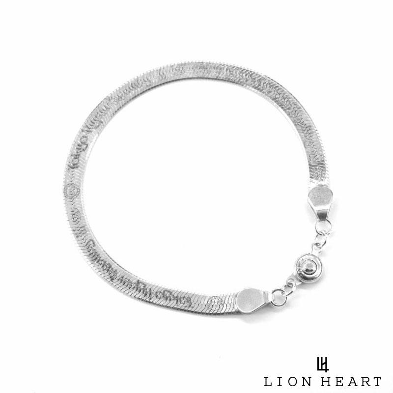 10時スタート ポイント10倍 全国どこでも送料無料 MAX25倍 ライオンハート LION HEART スネークチェーン ブレスレット LEO 大規模セール メンズ シルバー925 ブランド