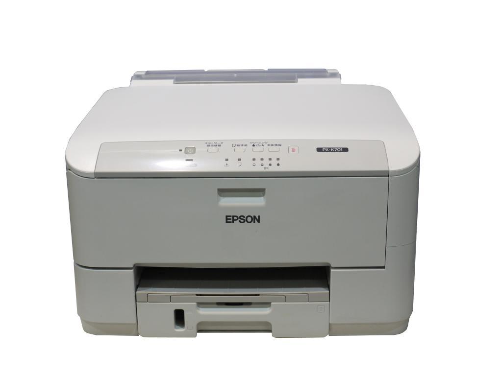 PX-K701 EPSON A4モノクロビジネスインクジェットプリンター 高速/高耐久モデル 両面印刷 /有線LAN対応【中古】【送料無料セール中! (大型商品は対象外)】