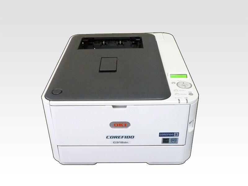 OKI COREFIDO C312dn A4カラーLEDプリンタ 自動両面印刷対応 約1.7万枚【中古】