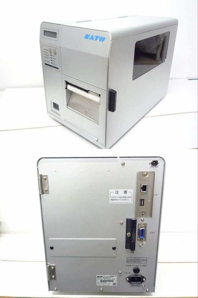 M-48Pro8 SATO バーコードラベルプリンタ LAN カッターユニット付き【中古】【送料無料セール中! (大型商品は対象外)】