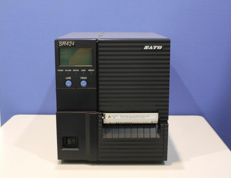 SR424 SATO バーコードラベルプリンタ LAN対応 24ドット 高解像度モデル カッター付き【中古】【送料無料セール中! (大型商品は対象外)】