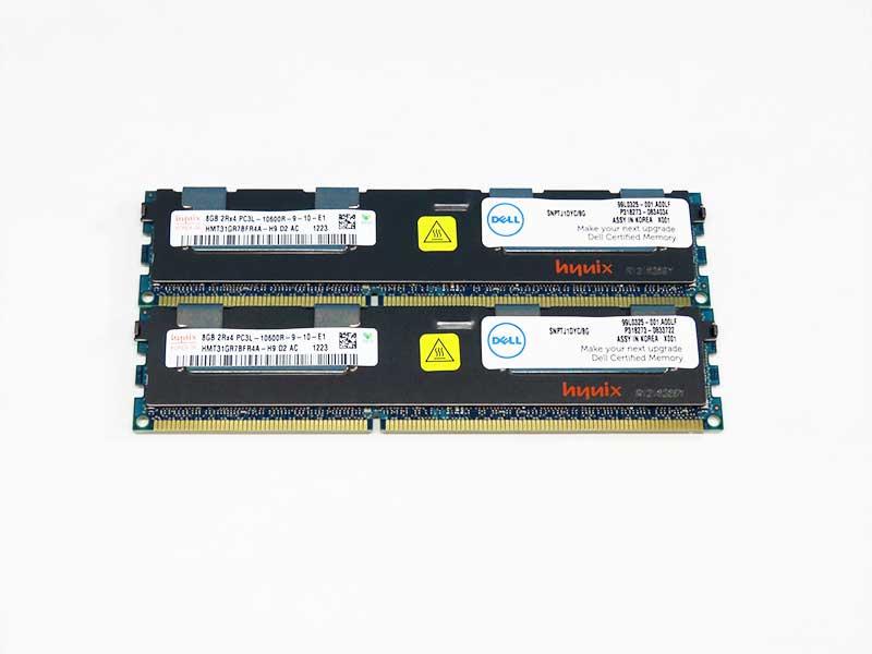 99L0325-001 DELL 計16GB (8GBx2) DDR3-1333 PC3-10600R ECC Reg hynix HMT31GR7BFR4A-H9【中古】【送料無料セール中! (大型商品は対象外)】