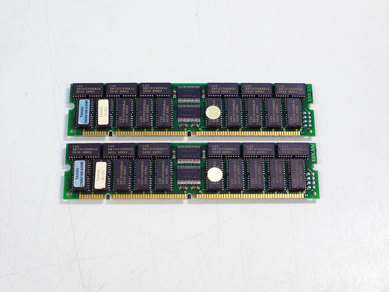 TAXAN DIMM168-64MB/EDO 60ns 加賀電子 2枚組 128MB PowerMac用メモリ【中古】【送料無料セール中! (大型商品は対象外)】