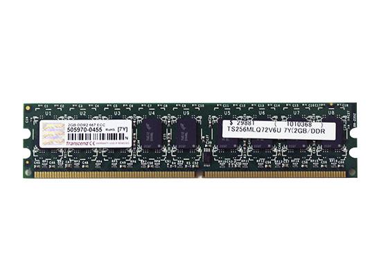 国内正規総代理店アイテム TS256MLQ72V6U Transcend 2GB DDR2-667 PC2-5300 1.8V 買い取り 中古 ECC 240pin