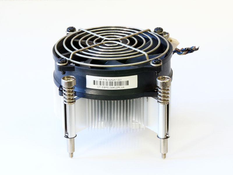 625257-001 HP Compaq Elite 8200 CMT/Z200 Workstation等用 CPUヒートシンク&ファン 4穴ピッチ 100mm x 70mm/LGA1156【中古】【送料無料セール中! (大型商品は対象外)】