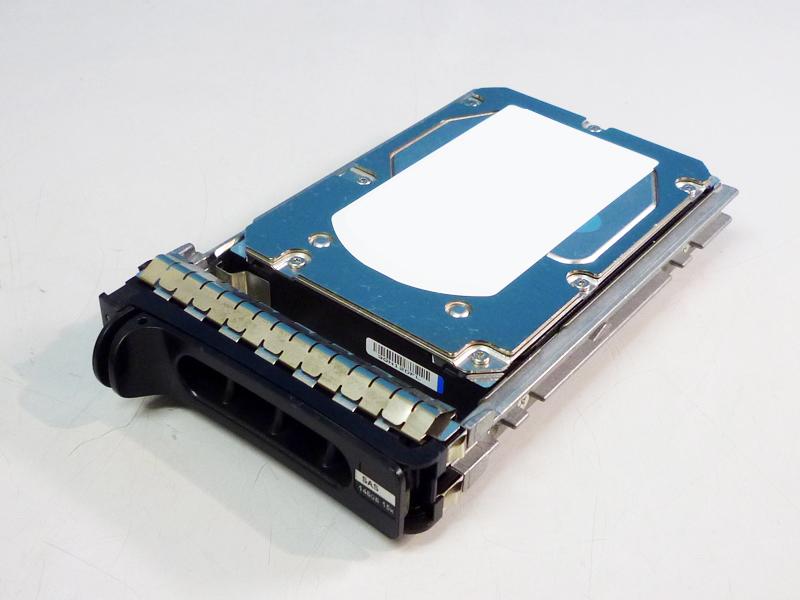 0XK111 DELL 146GB 3.5インチ/SAS/15000rpm 富士通 MBA3174RC マウンタ付き【中古】