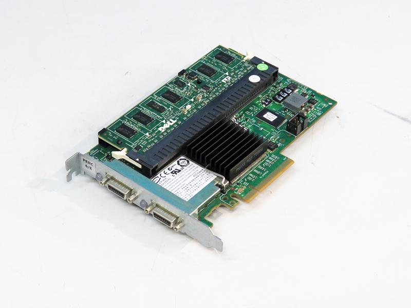 0J155F DELL PERC 6/E SAS RAIDコントローラー PCI Express x8 256MBキャッシュメモリ+BBU搭載【中古】