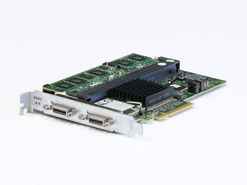 0J155F DELL PERC 6/E SAS RAIDコントローラー PCI Express x8 512MBキャッシュメモリ+BBU搭載【中古】【送料無料セール中! (大型商品は対象外)】
