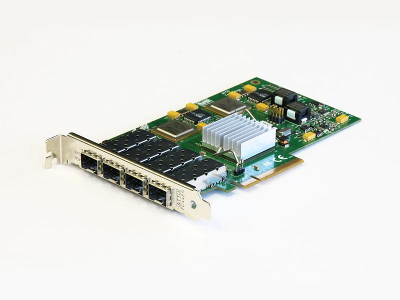 FC44ES ATTO Technology 4Gb/s FibreChannel ホストバスアダプタ 4Port PCI Express x8【中古】【送料無料セール中! (大型商品は対象外)】