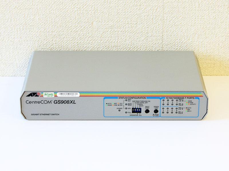 CentreCOM GS908XL Allied Telesis レイヤー2スイッチ【中古】